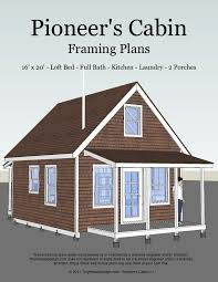 floor plans for cabins 16 x34 with loft plus 6 x34 porch side 46 best cottage house plans images on