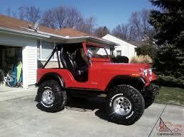 custom jeep red built cj 5 jeep street rod