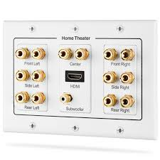 7 1 home theater speakers amazon com fosmon hd8006 3 gang 7 1 surround distribution home