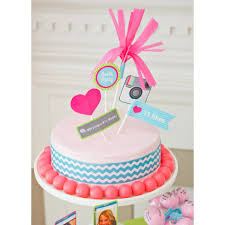 insta party teen tween birthday party customized cake topper set