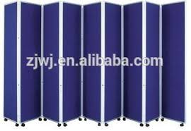 office folding screen room divider with wheels partition wall
