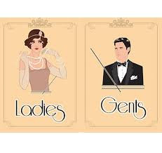 themed signs 1920 s themed toilet signs gents 1 50 21st ideas