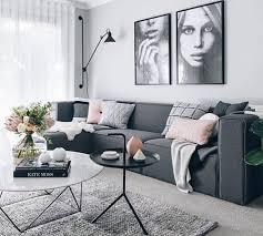 canapé gris foncé déco salon magnifique idée couleur peinture salon grise énorme