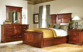 Solid Wood Bedroom Furniture Mahogany Storage Bed Classic King And Queen Solid Wood Bedroom