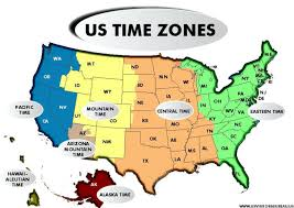 usa map time zone map map usa with time zones major tourist attractions maps