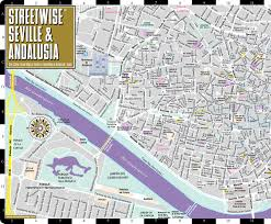 Maps Spain by Streetwise Seville Map Laminated City Center Street Map Of