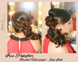 bridal hairstyle for reception antipolo hair and makeup makeup by noemi antipolo rizal manila