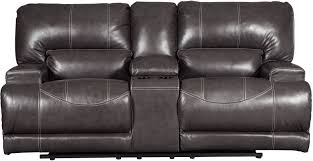 Double Recliner Mccaskill Gray Double Reclining Console Loveseat From Ashley