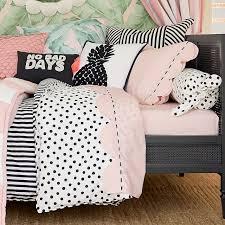 Pink Striped Comforter The Emily U0026 Meritt Cabana Stripe Duvet Sham Pbteen