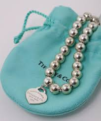 silver bead bracelet with heart images Tiffany co sterling silver heart pearl bead bracelets tradesy jpg