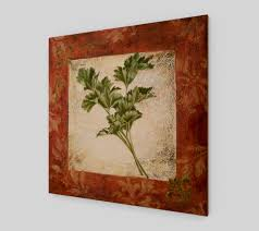 wood painting wood print reproduction of original painting parsley