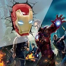 Avengers Wall Lights Avengers 3d Wall Light Iron Man Head 58 61 Online Shopping