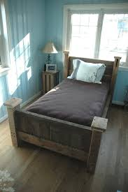 custom made reclaimed wood bed frame for the home pinterest