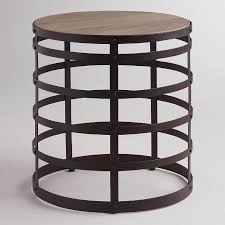 Wood Round End Table End Table World Market
