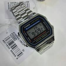 casio a168 casio vintage a168 silver preloved s fashion