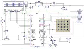 Rf Switch Matrix Schematic Diagrams Digital Code Lock Project Using 8051 Microcontroller