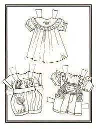 322 black u0026 white paper dolls coloring pages international