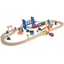 Make Your Own Wooden Toy Train by Amazon Com Orbrium Toys 52 Pcs Deluxe Wooden Train Set With 3