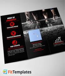 crossfit tri fold brochure template