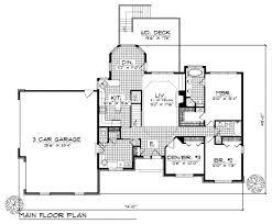 House Plans For Sloping Lots Traditional Style House Plan 3 Beds 2 50 Baths 1700 Sq Ft Plan
