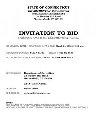Decline Letter To Bid Invitation To Bid Template Musicalchairs Us