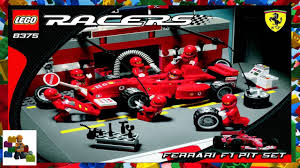 ferrari f1 lego lego instructions ferrari 8375 ferrari f1 pit set youtube