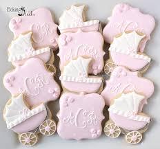 baby carriage baby shower cookies monogram cookies it u0027s