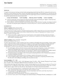 Clinical Resume Examples by Guidance Counselor Resume Program Counselor Cover Letter