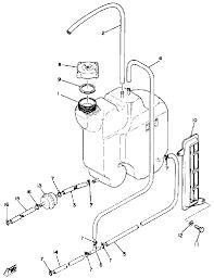 1980 yamaha exciter 440 ex440d oil tank parts best oem oil tank