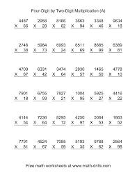 4 digit multiplication worksheets worksheets