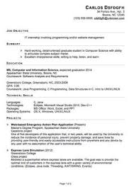 Sample Resume Internship by Functional Sample Resume It Internship Pg1 Smartie Stuff