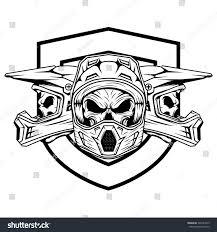 motocross mountain bike royalty free skull motocross and mountain bike helmet 399141025