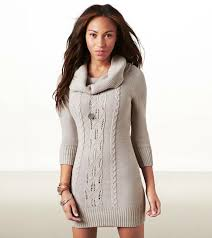 sweater dresses eagle cowl neck sweater dress grey