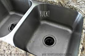 how to clean a kitchen sink clean and deodorize your sink naturally the happier homemaker