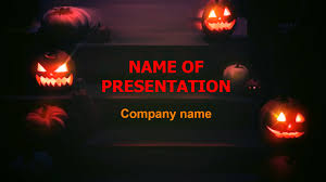 download free free halloween ghosts eyes powerpoint theme for