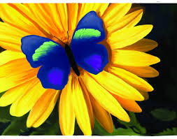 s creative imaging artwork butterfly on a flower painting