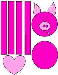 pig valentines day cutout craft