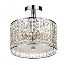 modern bathroom ceiling light chrome u0026 crystal design ip44 rated