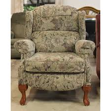 furniture green army wingback recliner on cozy berber carpet and
