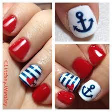 freehand nail art shellac nautical nails by lindsey j medley
