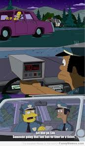 Speeding Meme - funny simpsons speeding meme