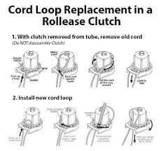Replacement Cords For Blinds Cord Loop Replacement In A Rollease Clutch Blind Repair Diagrams