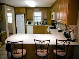 small u shaped kitchen with breakfast bar desk design smart
