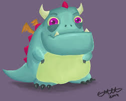 digital painting cute dragon by emutoons on newgrounds
