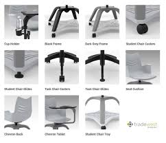 Chair Swivel Mechanism by Essay Swivel Task Chair With Tablet