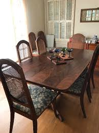 the estate sisters brown saltman dining table mid century