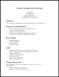 Property Management Resume Template Sample Resume Property Manager Retail Skills Resume Examples