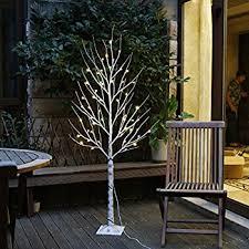 lightshare 6 lighted birch tree 72 led lights