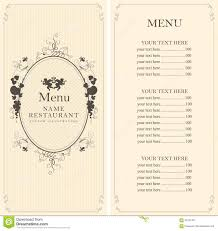 menu with floral ornaments stock vector image 62767467