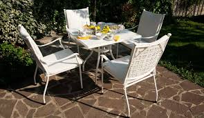 Aluminium Patio Furniture Sets Inspirations White Metal Outdoor Furniture With Oliver Four Seater